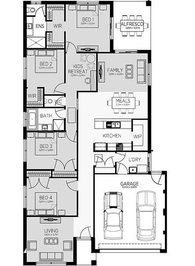 HILTON 24 (FRONT LIVING) Floor Plan