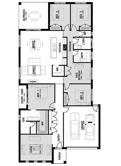 CANTERBURY 29 (FRONT LIVING) Floor Plan