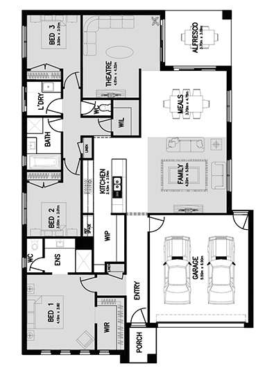 LINCOLN 24 (FRONT MASTER) Floor Plan