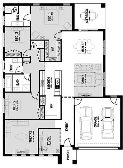LINCOLN 25 (FRONT LIVING) Floor Plan
