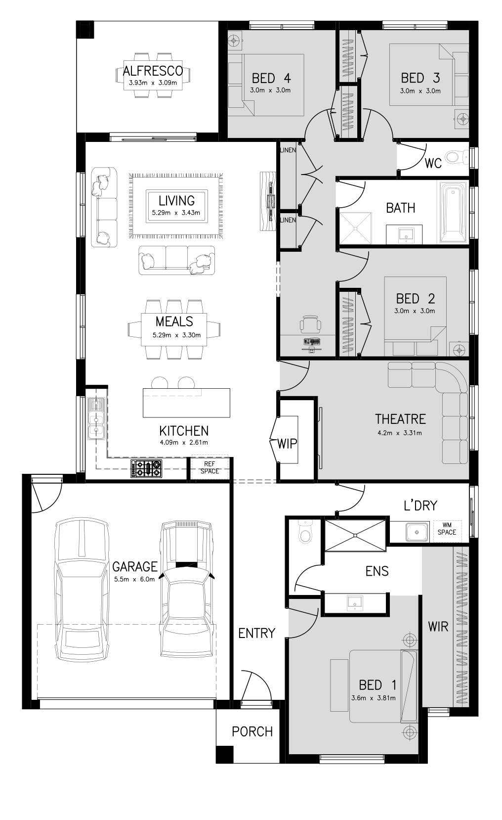 ARLINGTON 25 (FRONT MASTER) Floor Plan